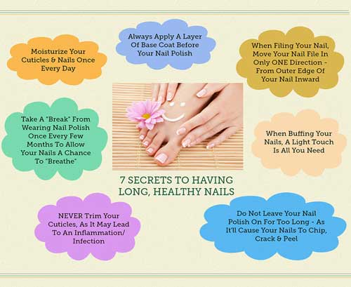 7 Secrets Healthy And Long Nails