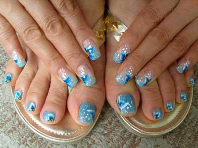 35 beautiful nail art ideas amazingnailart pedicure finger nail art latest trends 6 s prinsesfo Gallery