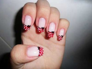 Polka Dot Christmas French Nails Artred Christmas French Manicure