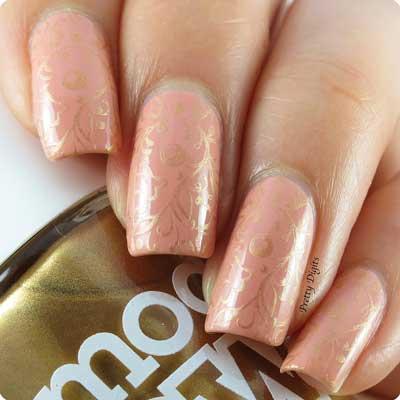 elegant floral nail art  amazingnailart
