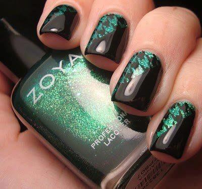 Black fashion green moda nail art amazingnailart black fashion green moda favim 675698 prinsesfo Choice Image