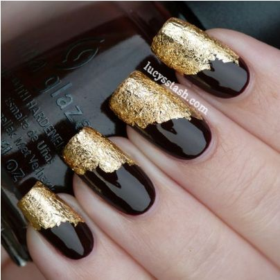 Elegant black nail art amazingnailart the weheartit is here and would like to share their elegant black nail art prinsesfo Images