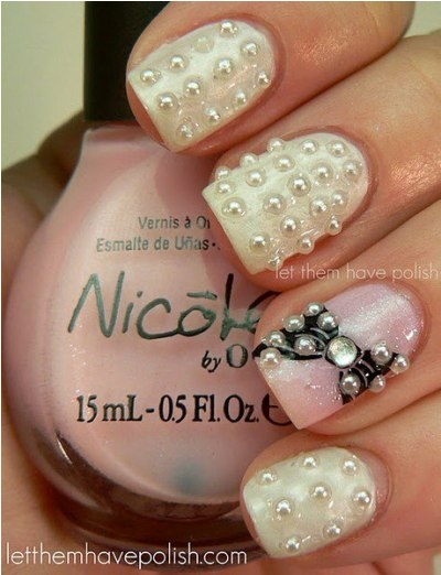 Fabulous pearl nail art amazingnailart the letthemhavepolish wanna share fabulous pearl nail art with you prinsesfo Image collections