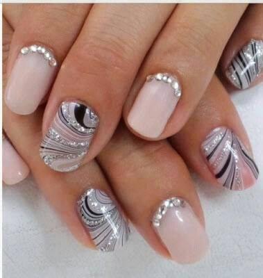 how to apply rhinestones to nails  amazingnailart