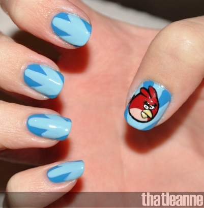 Angry Birds Nail Art Amazingnailart