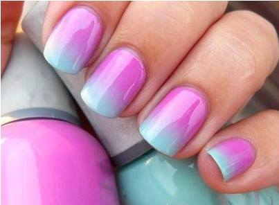 Ombre Nail Art Tutorial Using Acrylic Paint | AmazingNailArt.