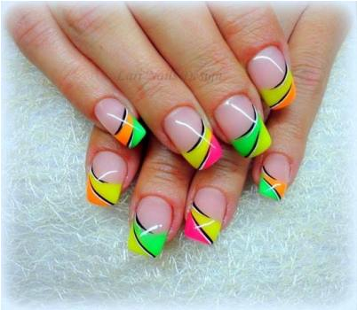 Funky Fresh French Nail Art Ideas