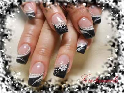 Cute seasonal black tips nail art amazingnailart coolnailsart likes to share cute seasonal black tips nail art prinsesfo Gallery