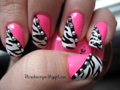 Hot Pink Zebra Nails Amazingnailart