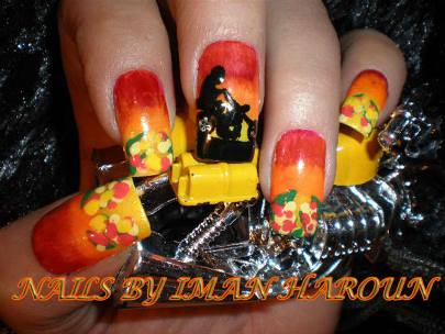 The Coolnailsart.com showcases its Harley Davidson Biker Nail Art! - Harley Davidson Biker Nail Art AmazingNailArt.org