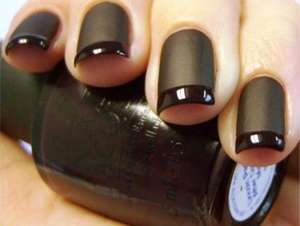 Black Matte Nail Art Amazingnailart