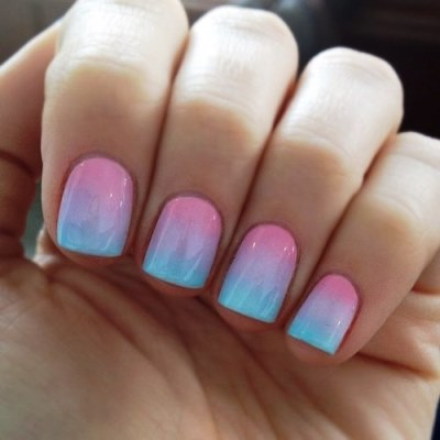 Easy ombre nail art tutorial amazingnailart the ombre nail art design is an artistic technique that enables nail artists to use different tools in creating the perfect blend of colors prinsesfo Image collections