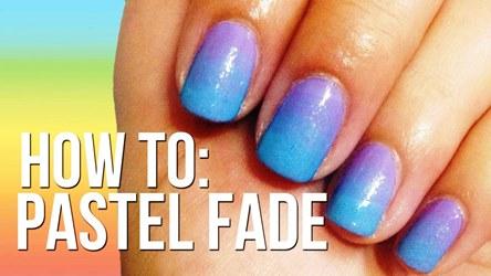 Pastel Fade Nails Without Sponge Tutorial Amazingnailart Org