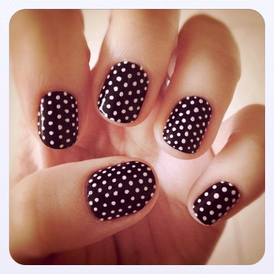 Personalized Polka Dots Nail Art Amazingnailart