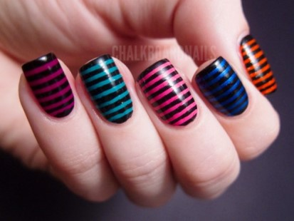 Striped nail art how to tips tricks amazingnailart skinny stripes s prinsesfo Image collections