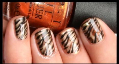 Tiger stripes nail art tutorial amazingnailart tigernailstepimage1 s prinsesfo Choice Image