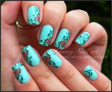 Nail Art Stamping And Hand Paint Tutorial Amazingnailart