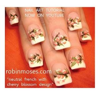 Bridal flower nail art tutorial for 3d nail salon midvale utah