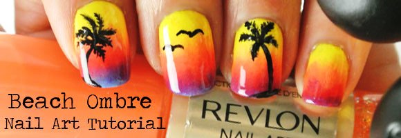 Beach ombre nail art tutorial amazingnailart a summer nail art tutorial is never too late try this beach inspired nail art tutorial prinsesfo Image collections