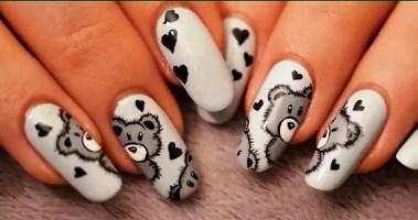 Nail Art Bear Teddy S