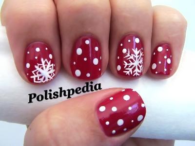 Christmas snow flakes nail art tutorial amazingnailart snowflake nail art s prinsesfo Choice Image