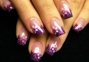 Glitter Acrylic Nails S
