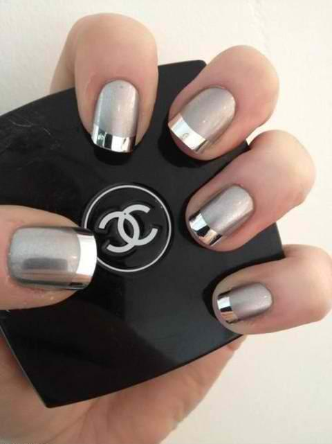 Metallic Nail Art Are New To The Scene Of Popular Design And These Just Few Most Beautiful Nil Idea