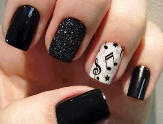 Nail art with words image collections nail art and nail design ideas 37 cute and stylish nail art ideas amazingnailart lush fab glam black and white nail prinsesfo prinsesfo Images