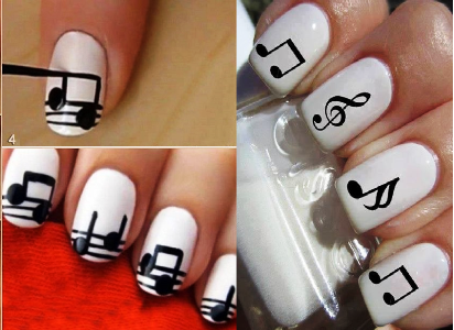 When You Can T Go To The Nail Salon Need Be Creative And Do Your Nails How Make Musical Note Art