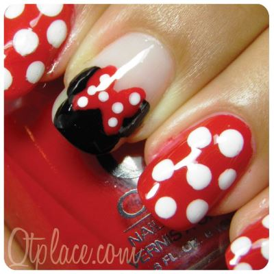 86f9035d54719ebbfaa96fa3fdfe2802s. Find your Mickey mouse with this simple nail  art ... - Disney Minnie Mouse Nail Art Tutorial AmazingNailArt.org