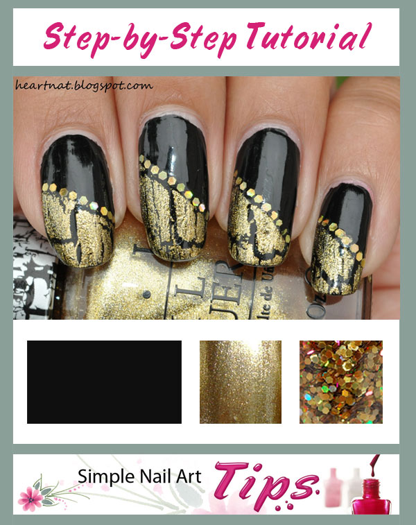 Simple Crackle Nail Art Deisgn And Tutorial Amazingnailart