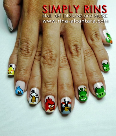 How To Angry Birds And Bad Piggies Tutorial Amazingnailart