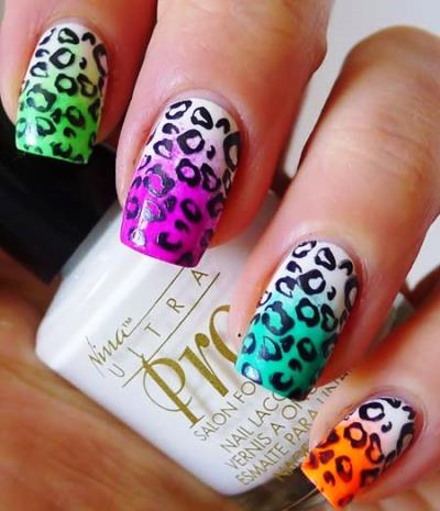 50 most amazing animal themed nail art amazingnailart leopard print nails design s prinsesfo Gallery
