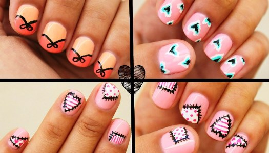 Hearts Day Nail Art Design Amazingnailart