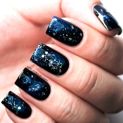 Super Quick Galaxy Nail Art Tutorial Amazingnailart