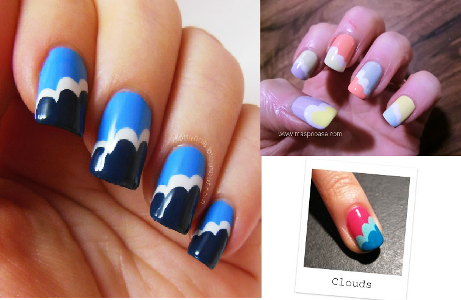 Easy Colorful Cloud Nail Art Tutorial Amazingnailart