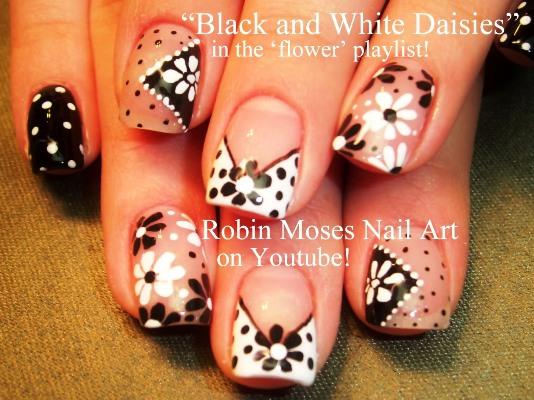 Easy Free Hand Spring Daisy Nail Art Amazingnailart