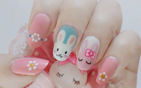 diy  easter nail bunny face  amazingnailart