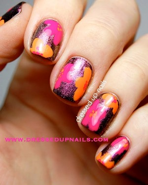 floral nail art swatches. Black Bedroom Furniture Sets. Home Design Ideas
