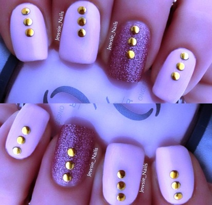 how to use studs  rhinestones for nail art