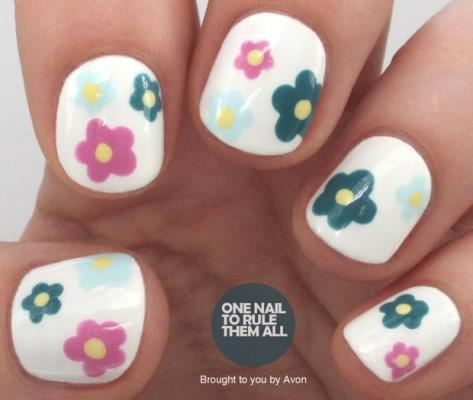 One Nail To Rule Them All Easy Flower Nail Art Tutorial For