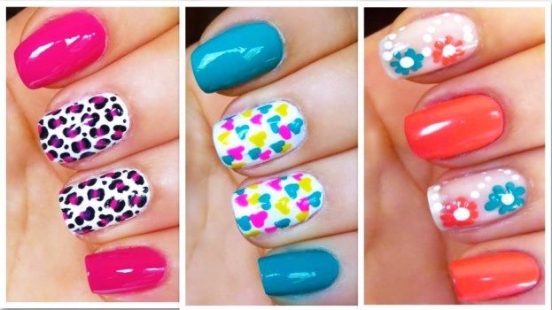 3 Easy And Cute Nail Art Designs Spring Summer 2014