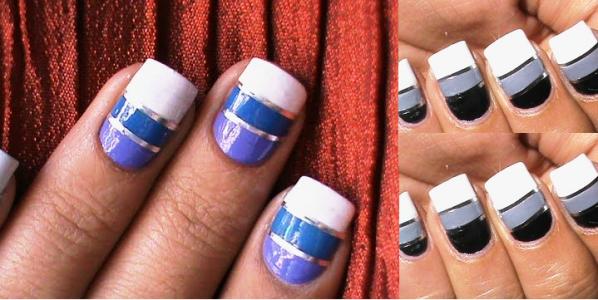 Striping tape nail art tutorial How to do nail striping stripe nails ...