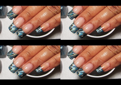 Water Marble French Tip Amazingnailart