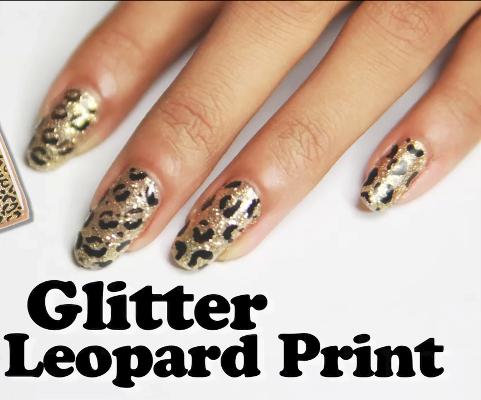 Easy Nail Art Tutorial For Glitter Leopard Nails Amazingnailart