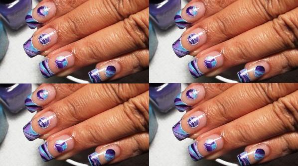 Negative space water marble nail art tutorial amazingnailart taget watermarble prinsesfo Gallery