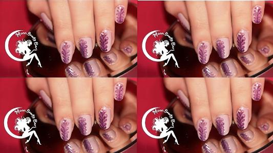Purple Dry Marble Nail Art Design Amazingnailart