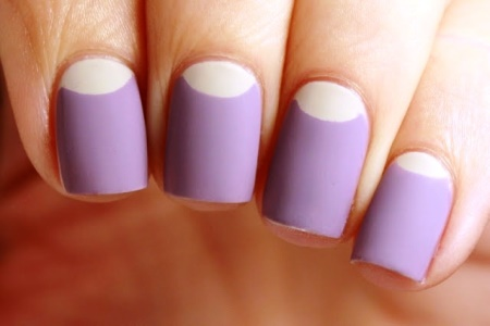 2dd9f401bab3f04c848479b0d85d5c4f s. Today's nail art idea ... - Basic Half Moon Nail Art Tutorial AmazingNailArt.org