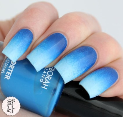 Blue Gradient Nail Art Tutorial Using A Sponge Amazingnailart