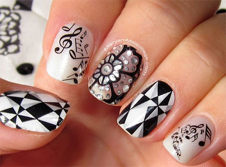 Amazing Music Notes Nail Art Designs Ideas Trends 2014